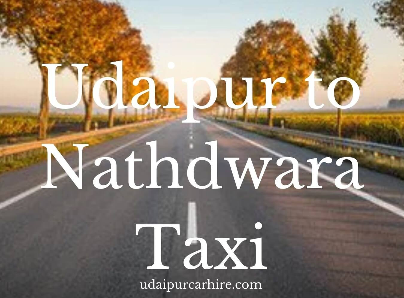 Udaipur to nathdwar taxi